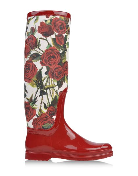 Is It Really Still Raining Wellies For Weather by Dolce Gabbana Rainboots Wellies In White Lyst