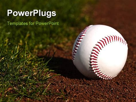Best Baseballconcept Powerpoint Template Baseball On The Green Grass And Red Dirt Of A Ball Baseball Powerpoint Template Free