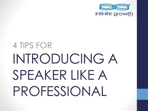 Tips To Be Professional 4 Tips For Introducing A Speaker Like A Professional