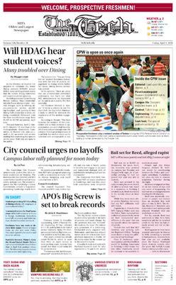 newspaper the institute the tech newspaper