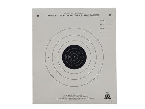 printable muzzleloader targets nra official pistol targets b 2 50 slow fire paper pack