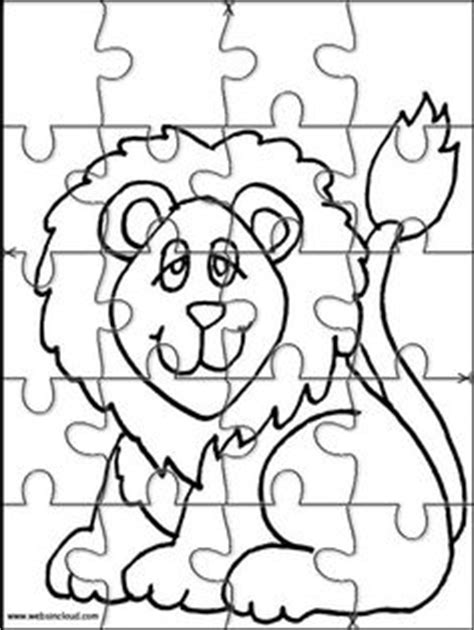printable animal puzzles for toddlers printable jigsaw puzzles to cut out for kids animals 12