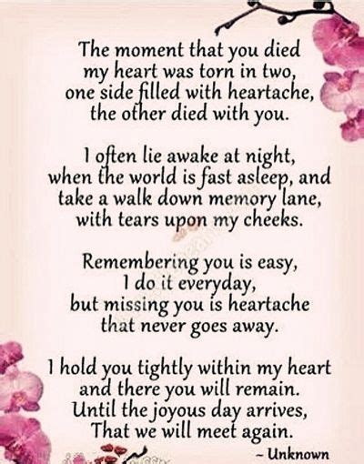 touching quotes  beloved mothers death anniversary quiet mind pinterest  mom