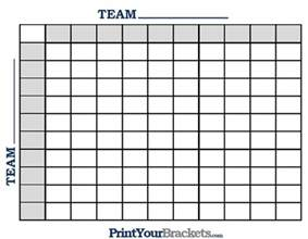 Best Numbers Office Football Pool Printable Ncaa Football Bcs Squares 100 Grid Office Pool
