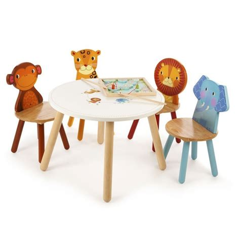 childrens table and bench jungle safari animals childrens table and 4 chairs tidlo t