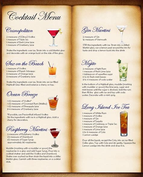 cocktail drinks menu entice your customers with these 15 menu design secrets