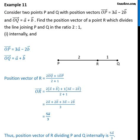 exle of vector exle 11 op 3a 2b oq a b find position