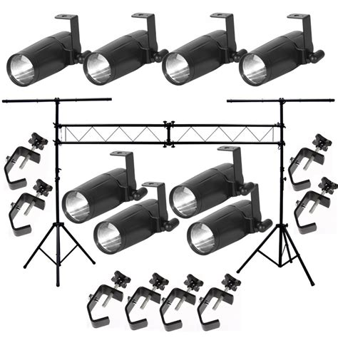 Light Fixture Packages American Dj 8 Pinspot Led Ii Fixture Package W Portable