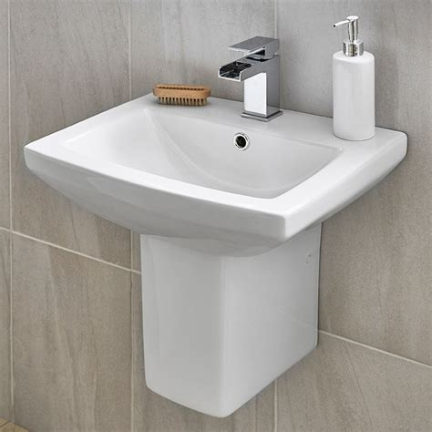 tabor 460mm basin and semi pedestal