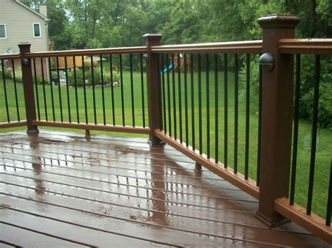Patio Railing Accessories Deck Accessories Including Lighting Benches And Railing