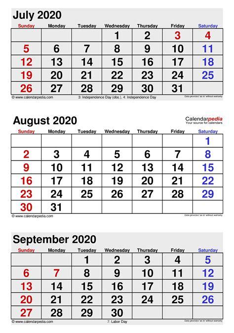 august  calendar templates  word excel