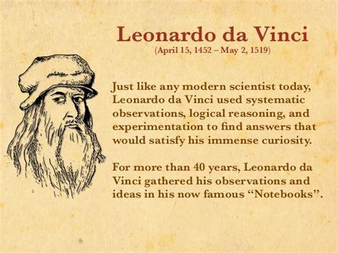 Who Was Leonardo Da Vinci leonardo da vinci the of science
