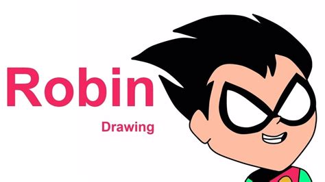 draw robin from teen titans go how to draw robin robin drawing how to draw robin from