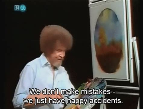 bob ross painting mistakes bob ross gifs wifflegif