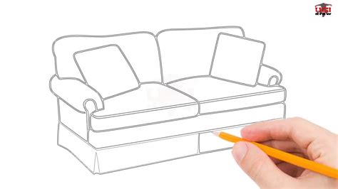 How To Draw A Sofa by Sofa Drawing Easy Www Energywarden Net
