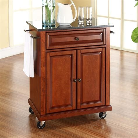 crosley furniture kitchen cart shop crosley furniture brown craftsman kitchen cart at