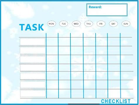 kids weekly to do list template to do list template