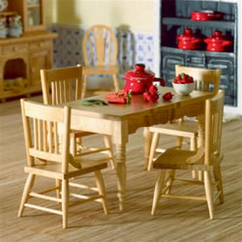 Kitchen Table 4 Chairs Kitchen Table Four Chairs 12th Scale Furniture 2037