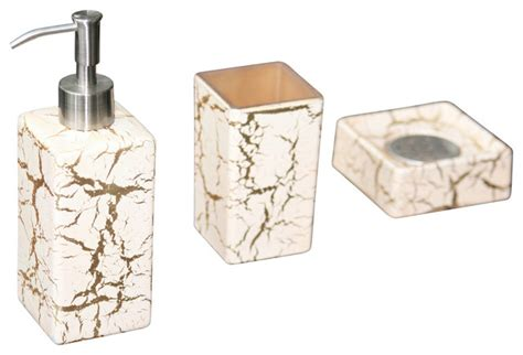 kalahari luxury bathroom set white gold contemporary