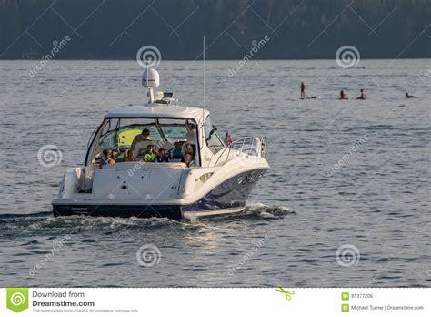 idaho boat license boating on lake coeur d alene editorial stock image