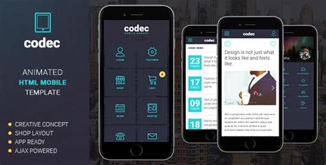 mobile themes jar format free download codec mobile html template by sindevo themeforest