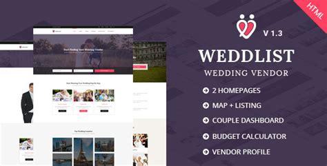 Weddlist Wedding Vendor Directory Html Template By Udayraj Themeforest Vendor Website Template