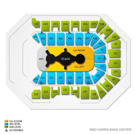 bmo harris seating chart bmo harris bank center seating chart seats