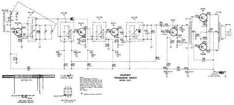 transistor radio schematic diagram heathkit xr 2 6 transistor radio schematic service manual