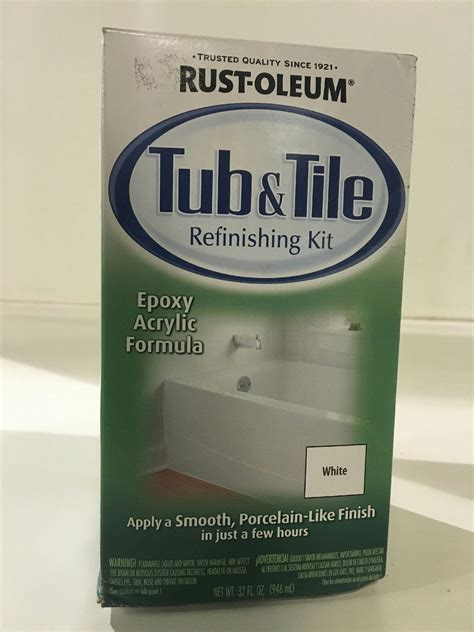 rustoleum bathtub refinishing kit rust oleum 7860519 1 qt white tub and tile refinishing