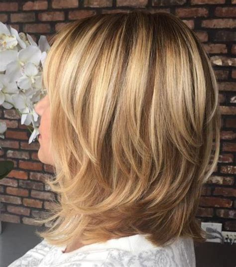 images of blonde layered haircuts from the back 70 brightest medium length layered haircuts and hairstyles