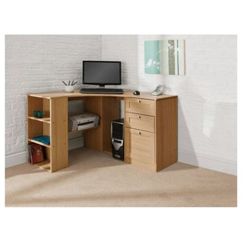 Corner Desk Storage Buy Fraser Corner Desk With Storage From Our Office Desks Tables Range Tesco