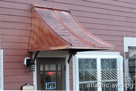 picture of an awning standing seam copper awnings atlantic awning