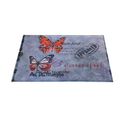 memory foam kitchen floor mats artistic butterfly memory foam floor mat kitchen bathroom