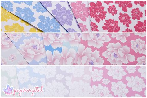Where Do You Buy Origami Paper - free origami paper peony pattern paper kawaii