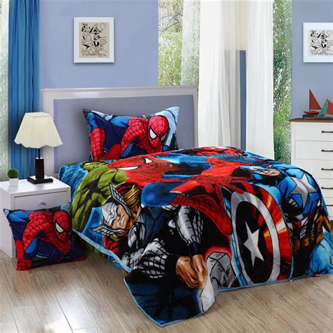 Online Get Cheap Marvel Comforter Set Aliexpress Com Marvel Bedding Sets
