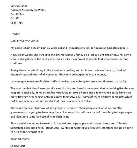 homeless charity letter a 10 year boy wrote this touching letter to the