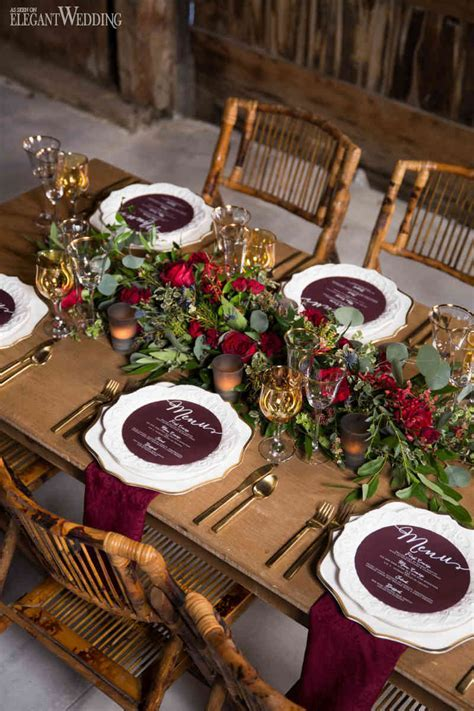Rustic Burgundy Barn Wedding   ElegantWedding.ca