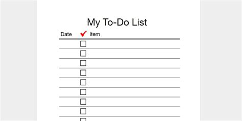 word to do list template every to do list template you need the 21 best templates