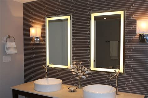 lighted bathroom wall mirror lighted mirrors for bathrooms house lighting