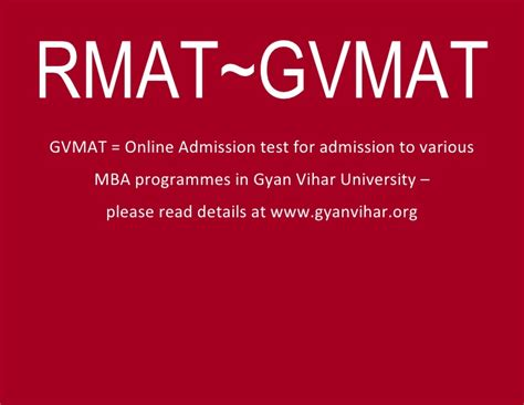 Mba Testing Mass Deca by Rmat Gvmat Mba Entrance Admission Test 2012