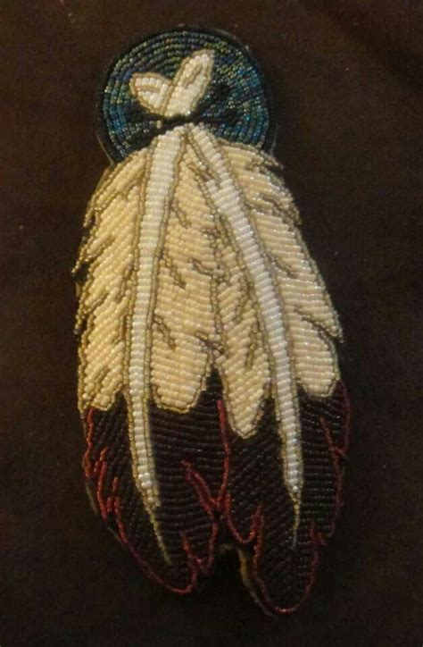 beadwork feather feather beadwork beadwork seed bead crafts