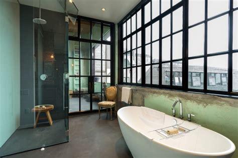 striking industrial bathroom designs  modern features