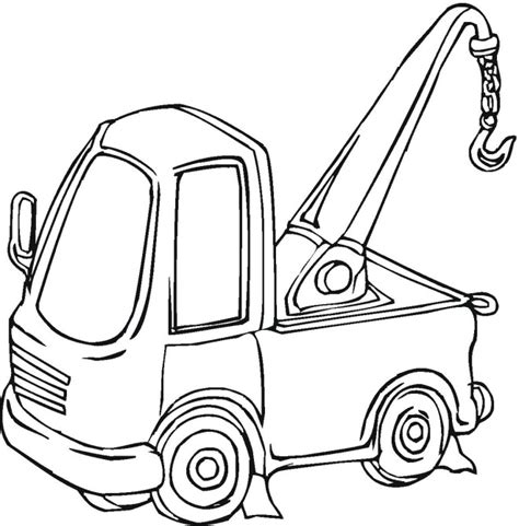 coloring page crane truck gallery for gt crane truck coloring pages