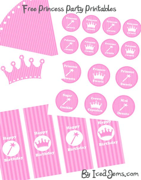 printable party decorations free princess party printables