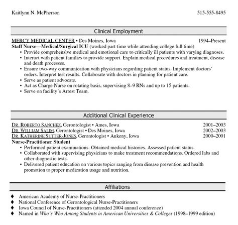 Practitioner Resume Summary Of Qualifications by Sle Cv Practitioner Student Gallery Certificate