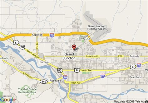 grand in colorado map map of doubletree grand junction grand junction