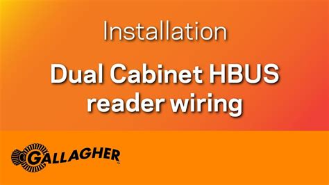 installation guide dual cabinet hbus reader wiring youtube
