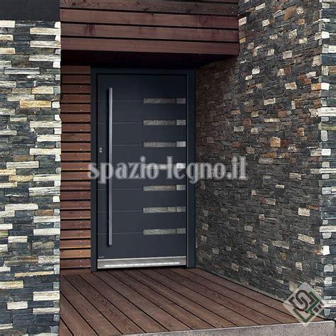 portone ingresso portoni ingresso alluminio spazio legno srl