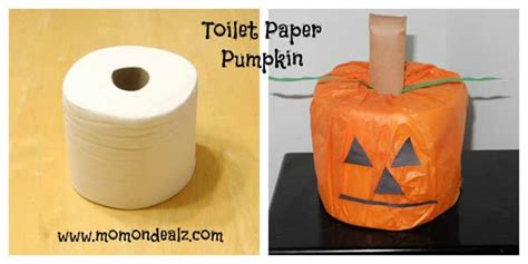 Toilet Paper Pumpkin Craft - crafts for toilet paper pumpkin