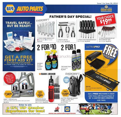 NAPA Auto Parts Canada Flyers